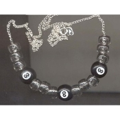 8-BALL NECKLACE-Retro Pool Billiards Game Lucky Funky Jewelry