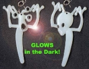 GLOW-in-the-DARK ALIEN / ALIENS EARRINGS - Martian GID Collectible Jewelry - BIG