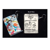 Huge Funky ANIMANIACS PINBALL GAME EARRINGS Novelty Costume Jewelry - THREE CHARACTER FACES - Real Mini Pin Ball Puzzle Collectible Toy. Genuine Circa 1996 Vintage Miniature Cracker Jack Prizes Plastic Charms.