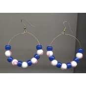"BASEBALL 2"" HOOP EARRINGS - Coach Referee Team Player Umpire Catcher Gift Jewelry"
