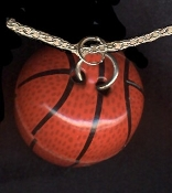BASKETBALL PENDANT NECKLACE - Coach Referee Funky Team Jewelry