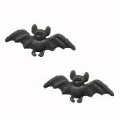 BAT TINY BUTTON POST EARRINGS - Cute Gothic Punk Vampire Costume Jewelry