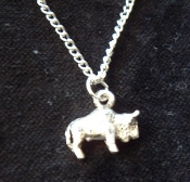 BUFFALO BISON PENDANT NECKLACE-Rodeo Cowboy Animal Charm Jewelry