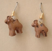 Mini Resin CAMEL EARRINGS - Jungle Desert Safari Jungle Zoo Circus Jewelry