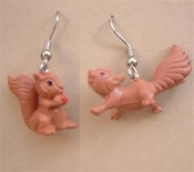 Vintage Miniature SQUIRRELS CHIPMUNKS EARRINGS - Pair Set