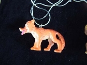 COYOTE HYENA WOLF NECKLACE-Huge Fun Toy Zoo Animal Charm Jewelry