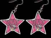 Big Funky DIVA EARRINGS - Princess Attitude Charm Actress Singer Costume Jewelry