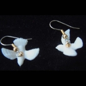 Mini White DOVE PIGEON EARRINGS - Spiritual Bird Watcher Peace Love Jewelry