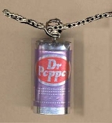 DR PEPPER CAN PENDANT NECKLACE-Soda Pop Drink Charm Food Jewelry