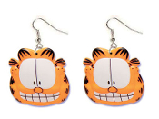 Huge GARFIELD LOGO EARRINGS - TV Movie Character Jewelry