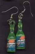 GATORADE SPORTS DRINK EARRINGS - Mini Vending Toy Novelty Charm Jewelry