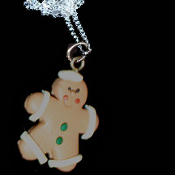 GINGERBREAD MAN NECKLACE-SAILOR-Holiday Cookies Fun Food Jewelry