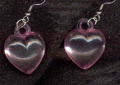HEART TRANSLUCENT JELLY PINK PASTEL EARRINGS - Cute Valentines Day Love Charm Jewelry