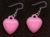HEART LIGHT PINK PASTEL EARRINGS - Cute Valentines Day Love Charm Jewelry