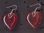 Funky Transparent Red Jelly HEART EARRINGS - Love Novelty Valentine Charm Jewelry