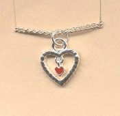 HEART PENDANT NECKLACE - Valentine's Day Charm Love Jewelry -I