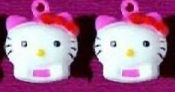 HELLO KITTY BELL EARRINGS - F - Funky Novelty Jewelry - Really Rings!