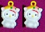 HELLO KITTY BELL EARRINGS - H - Funky Novelty Jewelry - Really Rings!