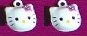 HELLO KITTY BELL EARRINGS - L - Funky Novelty Jewelry - Really Rings!