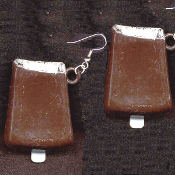 ICE CREAM BAR EARRINGS - HUGE Vintage Vending Funky Food Charm Jewelry
