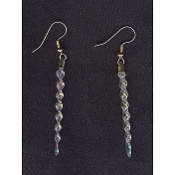 ICICLE EARRINGS - Winter Skiing Icicles Christmas Gift Jewelry - Irridescent Faux Crystal