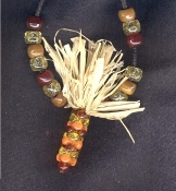 INDIAN CORN PENDANT NECKLACE-Thanksgiving Fall Harvest Jewelry