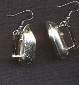 IRON EARRINGS - Housewife / Homemaker Laundry Cleaning Novelty Miniature Charm Jewelry