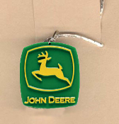 JOHN DEERE PENDANT NECKLACE-Farm Tractor Farmer Funky Jewelry-LG