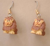 Mini Funky LION EARRINGS - Safari Zoo Jungle Noah's Ark Animal Novelty Charm Costume Jewelry - Miniature Dimensional Resin Detailed Charm. Great for any Tarzan, Lion King or Madagascar movie fans. Go Lions!