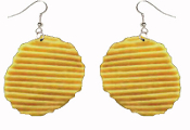Huge POTATO CHIPS EARRINGS - Unique Realistic Toy Play Food Jewelry