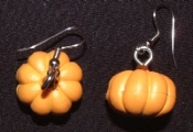 Mini PUMPKIN SQUASH EARRINGS - Garden Vegetable Charm Jewelry