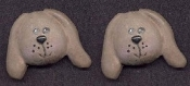 PUPPY DOG BUTTON EARRINGS - Brown Resin Pet - Veterinarian Jewelry - Resin Canine