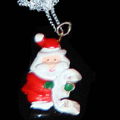 SANTA PENDANT NECKLACE-Resin Christmas Charm Novelty Jewelry-#3
