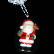 SANTA PENDANT NECKLACE-Teddy Sack Holiday Charm Novelty Jewelry