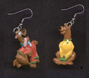 Funky SCOOBY DOO EARRINGS - C - TV Cartoon Movie Novelty Character Charm Jewelry
