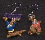 Funky SCOOBY DOO EARRINGS - B - TV Cartoon Movie Novelty Character Charm Jewelry