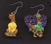 Funky SCOOBY DOO EARRINGS - A - TV Cartoon Movie Novelty Character Charm Jewelry