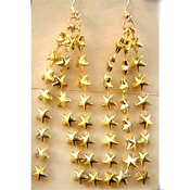Cascading SHOOTING STARS EARRINGS - Graduation Gift Independence Day Patriotic Jewelry
