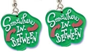 SOMEWHERE-in-BETWEEN EARRINGS - Big Funky Diva Attitude Princess Charm Jewelry