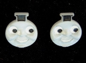 THOMAS the TANK ENGINE BUTTON POST EARRINGS - Choo-Choo Train Engineer Jewelry