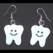 TEETH SMILE FACE EARRINGS - Dentist - Smiley Tooth Jewelry