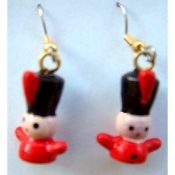 TOY SOLDIER EARRINGS - Nutcracker Christmas Gift Jewelry - Painted Wood, Detailed Charm