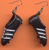 Miniature TRACK SHOES EARRINGS - Soccer Baseball Football Sports Charm Jewelry