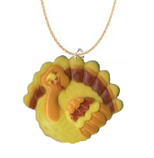 TURKEY CUTE PENDANT NECKLACE-Thanksgiving Holiday Charm Jewelry