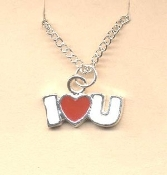 Valentine's Day Charm PENDANT NECKLACE - HEART Love Jewelry -K