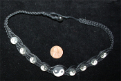 YIN YANG CHOKER NECKLACE-Retro Hippy Charm Funky Novelty Jewelry