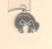 Zuni SPIRIT BEAR PENDANT NECKLACE-Southwest Lucky Charm Jewelry