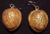 WALNUTS EARRINGS - Glittery Holiday Nuts Fun Christmas Jewelry Sparkling, Nutty WALNUT