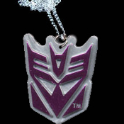Big Purple Metallic DECEPTICONS TRANSFORMERS Megatron Pendant Necklace - Cartoon Movie Villain Costume Jewelry