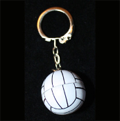 Funky VOLLEYBALL KEYCHAIN - Team Player Referee Coach Gift Big 3d Metal Dimensional Charm Jewelry